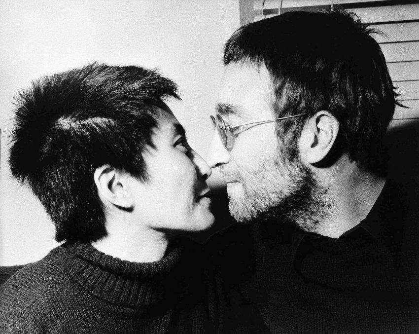 Йоко Оно и Джон Леннон в феврале 1970 года