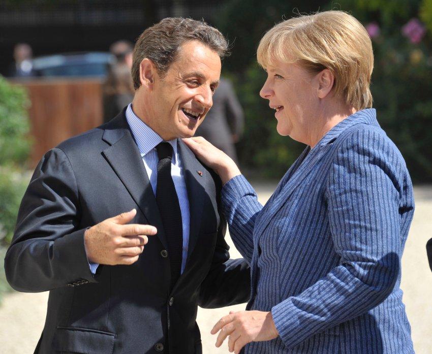 Меркель и Саркози в Париже, август 2011 года