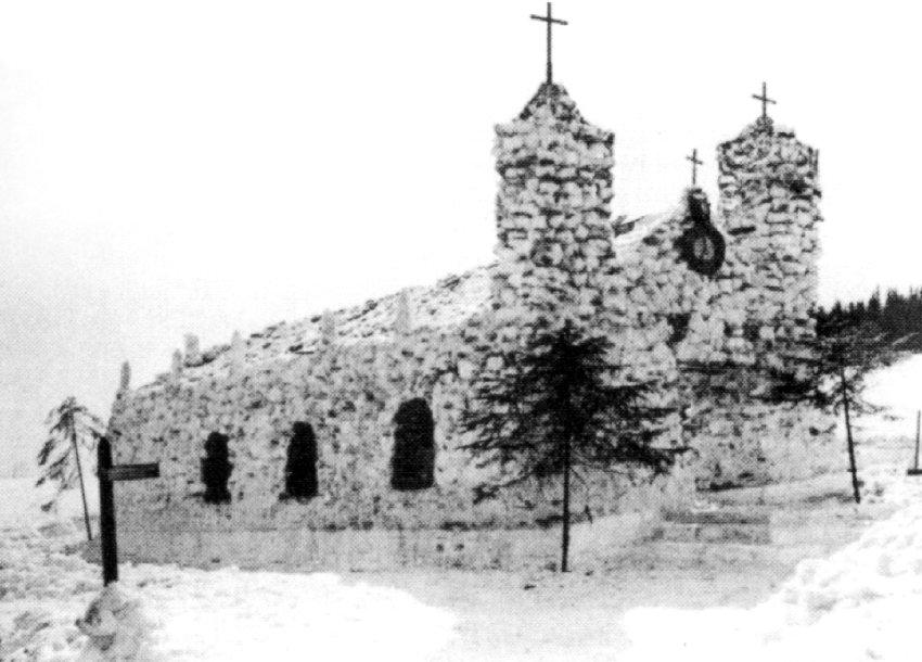 Оригинальная Церковь из снега в 1911 году