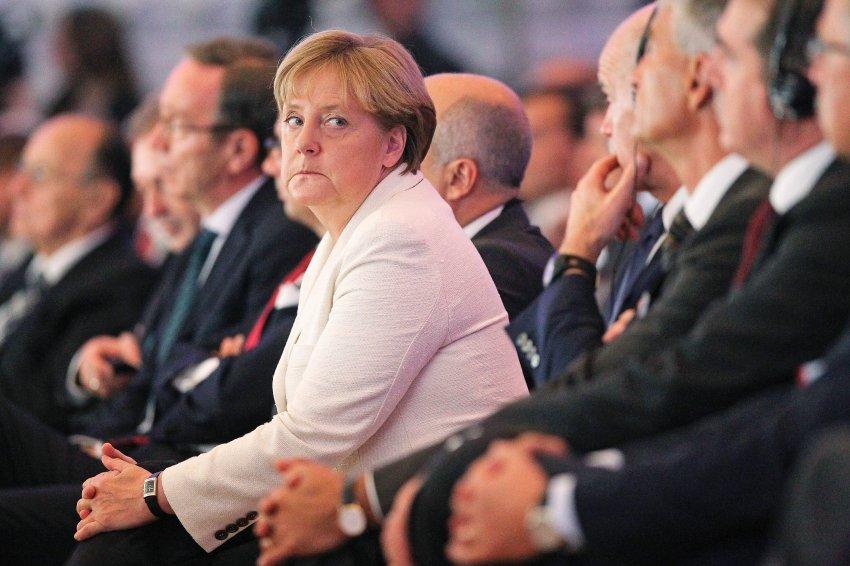 Меркель на съезде Федерации немецкой промышленности в сентябре 2011 года