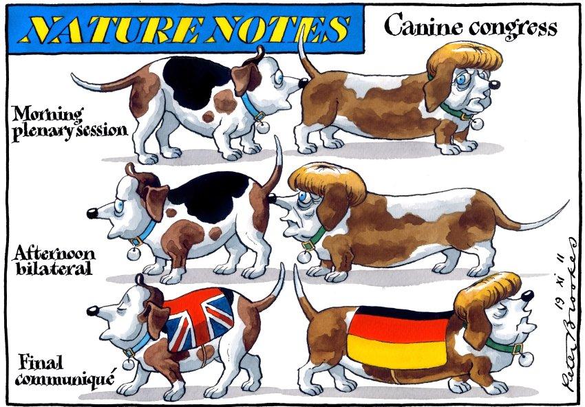 Переговоры между Меркель и Кэмероном, карикатурист Peter Brookes