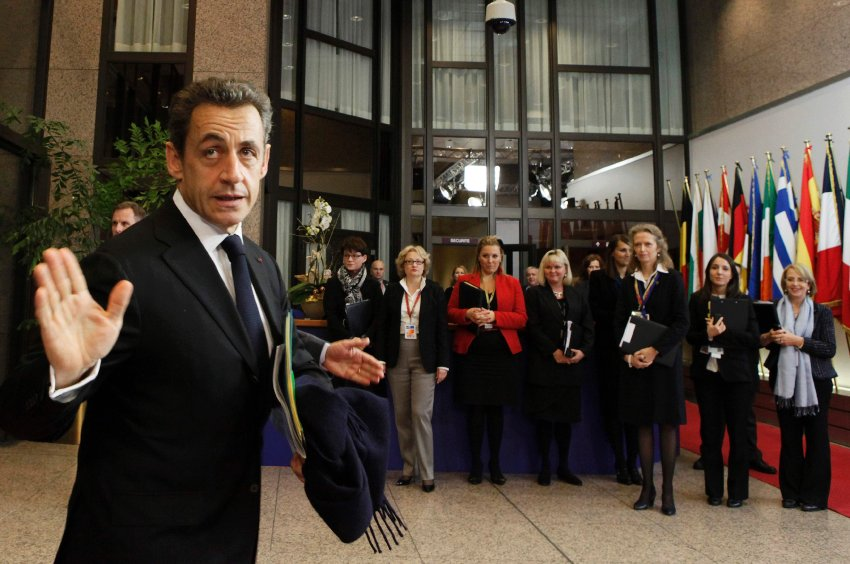 Николя Саркози перед началом заседания в четверг