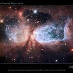 Космические Ангелы на Рождество. Телескоп Хаббл заснял зарождение новых звезд в Шарплесс 2-106