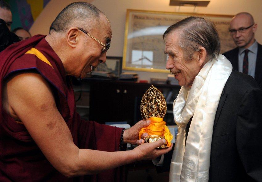 Посещение Вацлава Гавела во время болезни Далай-Ламы в декабре 2011 года, последнее публичное выступление
