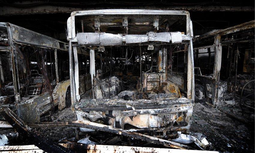 Сгоревшие автобусы в Bottrop оценены в 70 млн евро