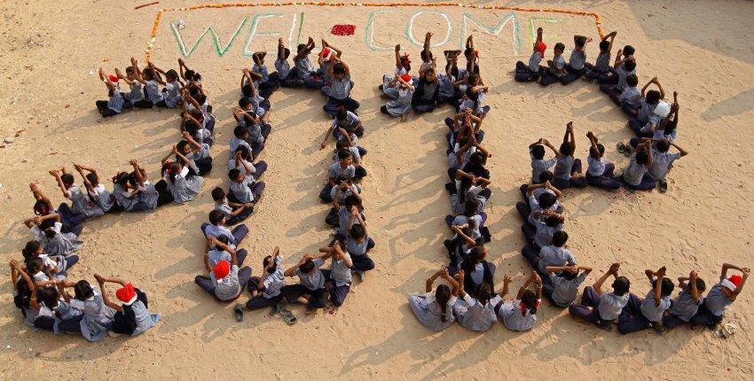 Индийские студенты тоже встретили 2012 год