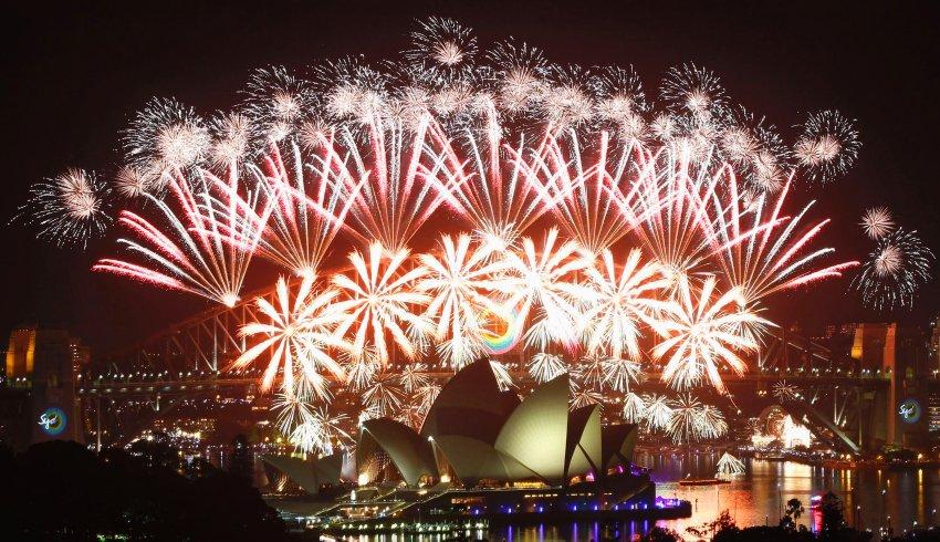 Фейерверк над гаванью Сиднея
