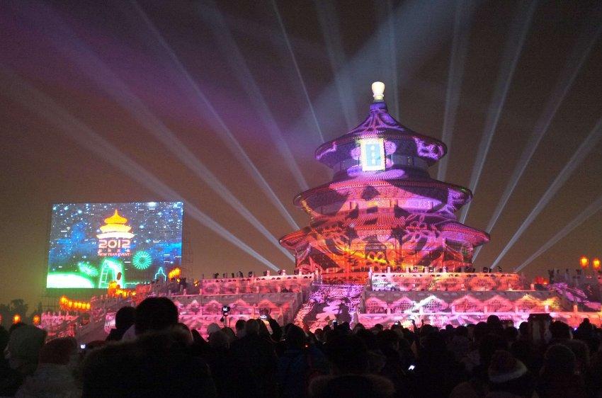 Красочное шоу на Храме неба в Пекине