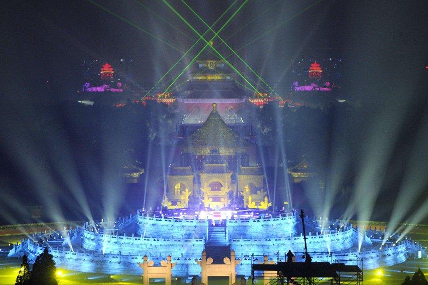 Лазерное шоу в Пекине