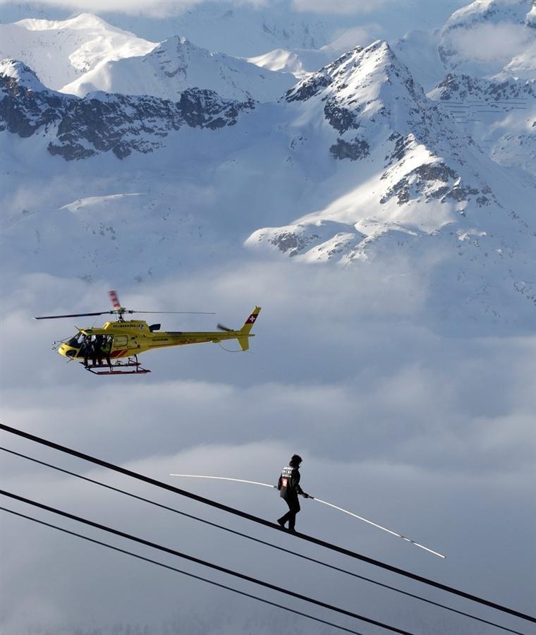 Фредди Нок, устанавливающий мировой рекорд в Швейцарии, 29 января