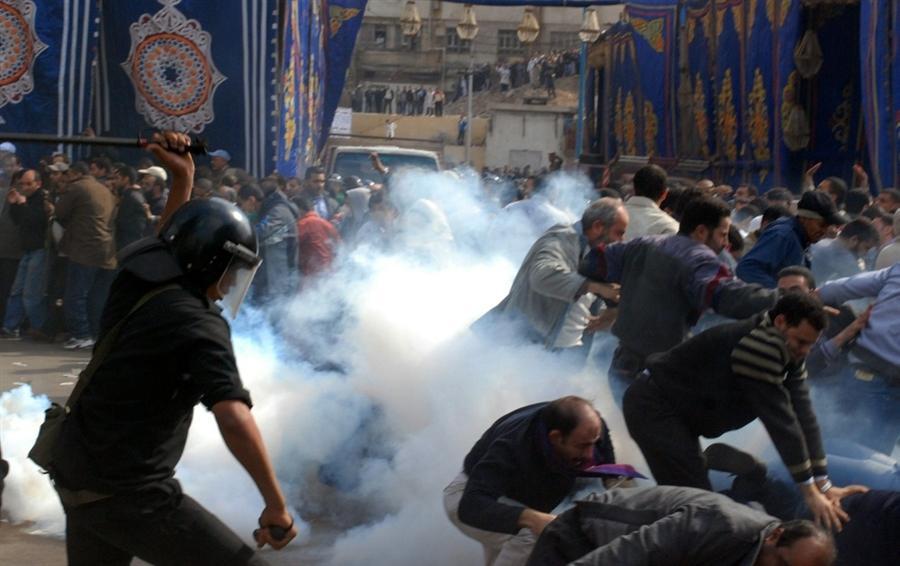 Революция в Египте, январь