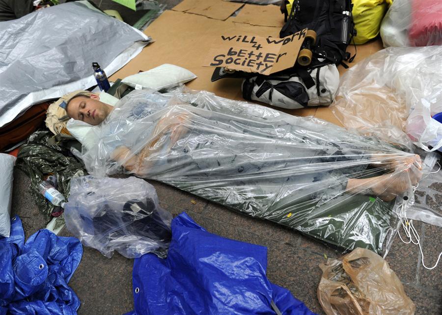 Демонстранты - Занимайте Уолл Стрит, 29 сентября
