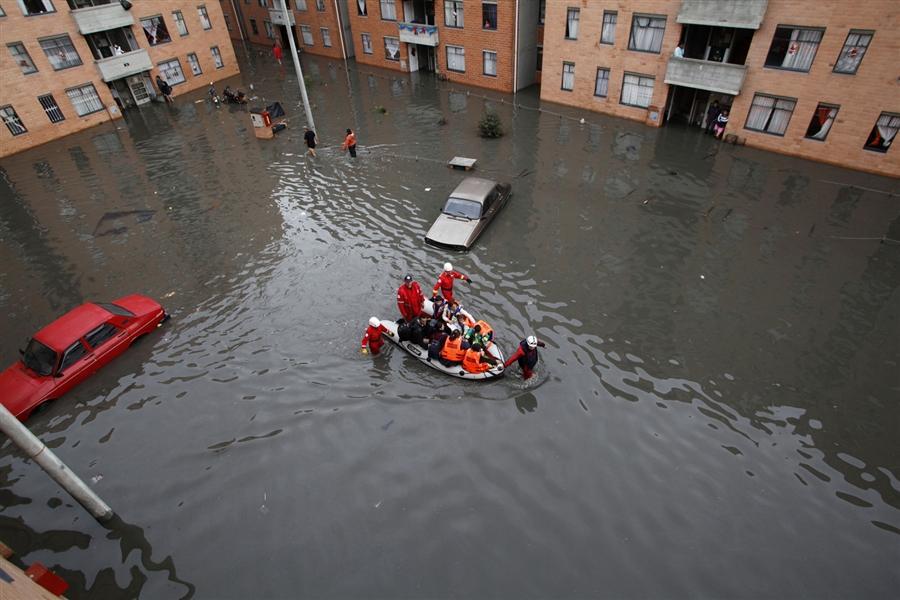 Наводнение в Боготе в результате проливных дождей, на 7 декабря было 96 погибших