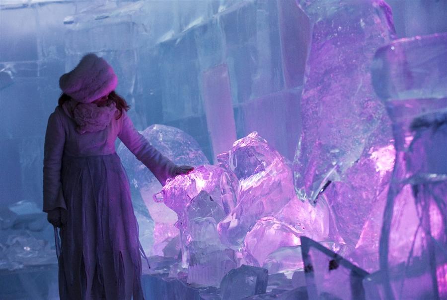Парк ледяных скульптур в Лапландии, Финляндия, 14 декабря
