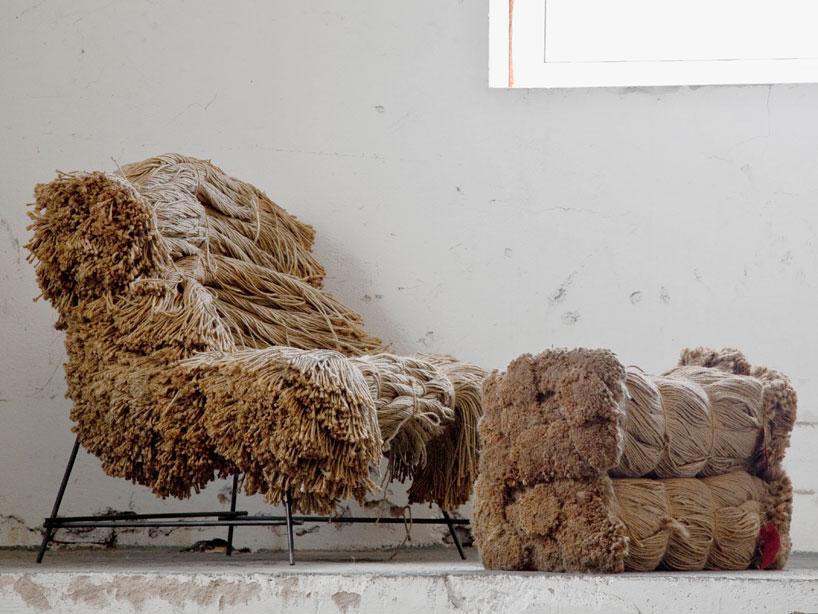 Кресло - прелюдия, из переплетенных жгутов натуральных нитей