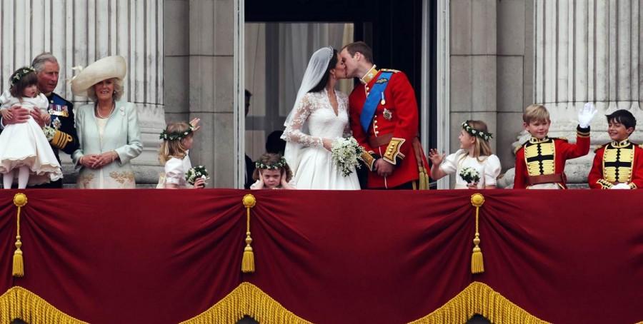 Королевский поцелуй Кейт Миддлтон и Принца Уильяма, 29 апреля
