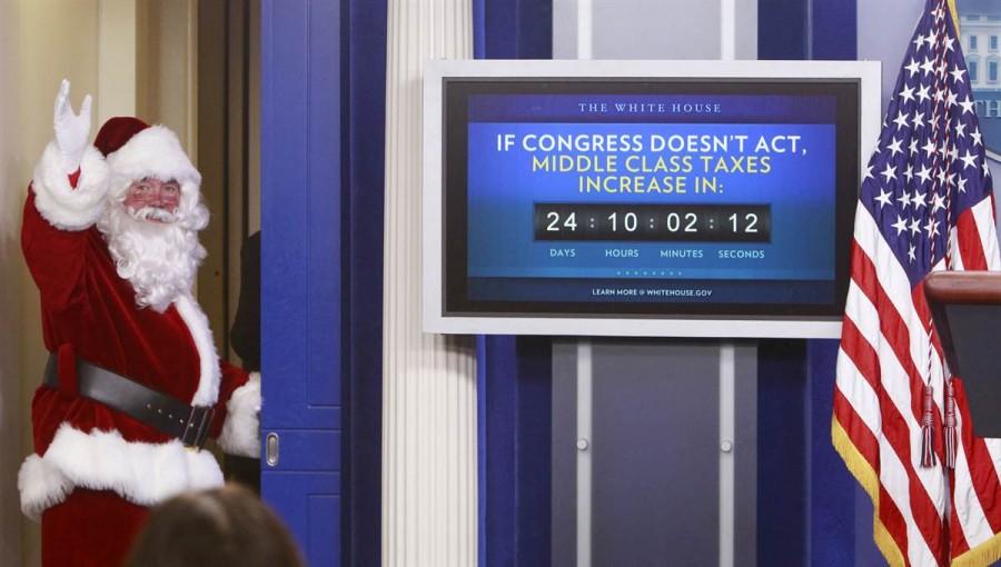 Веселый Санта в Белом Доме, Вашингтон