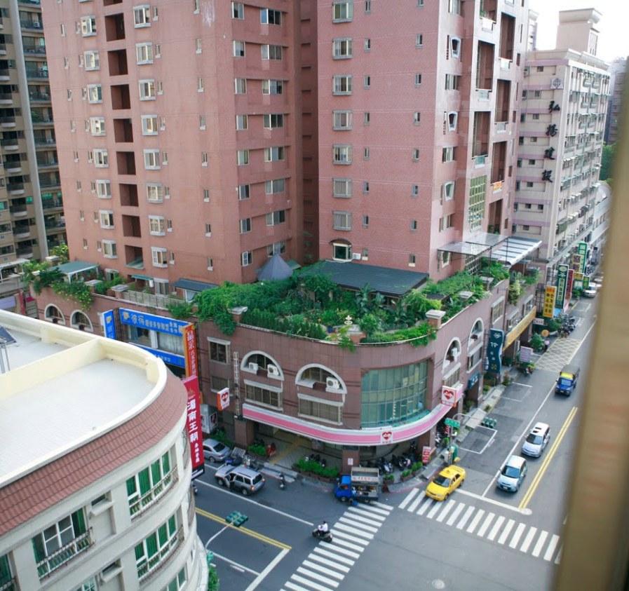 Сад на крыше неподалеку от Гаосюн Арена в Тайване