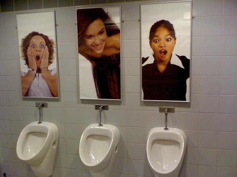 Забавный туалет для мужчин в Швеции