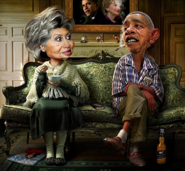 Воспоминания - Обама и Клинтон