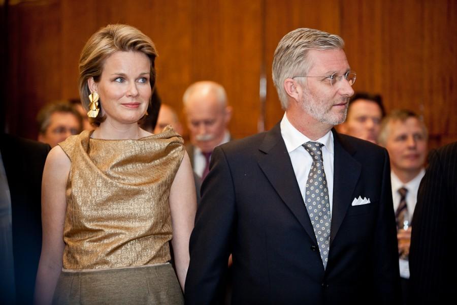 Наследный принц Филипп и его жена Матильда, которая набрала так же 1% голосов