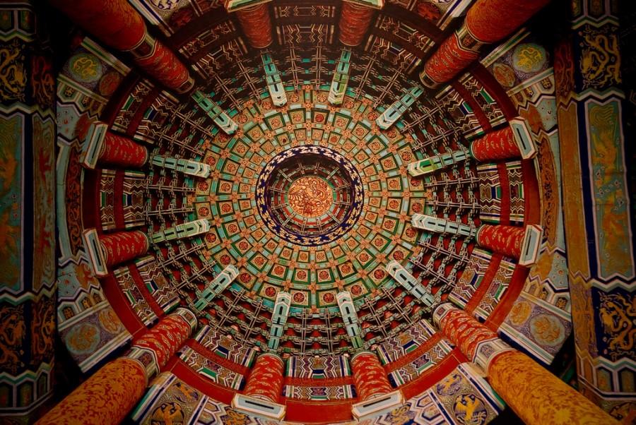 Храм Неба в Китае является символом Пекина, фотограф Скиена