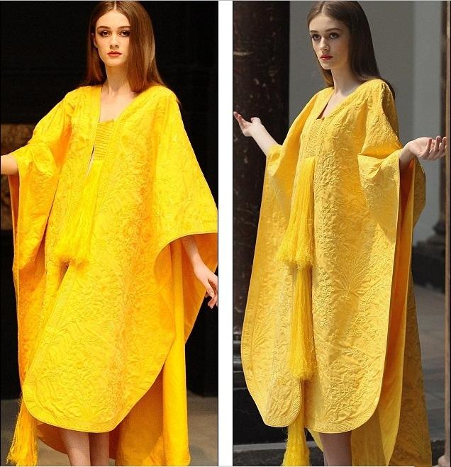 Платье, сотканное пауками из шелковой паутины (10 фото) в Фотоприколы на Развлекательный блог OTVALI.RU.