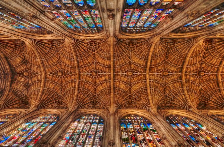King's College Chapel в Кембридже, фотограф Джон Кролл