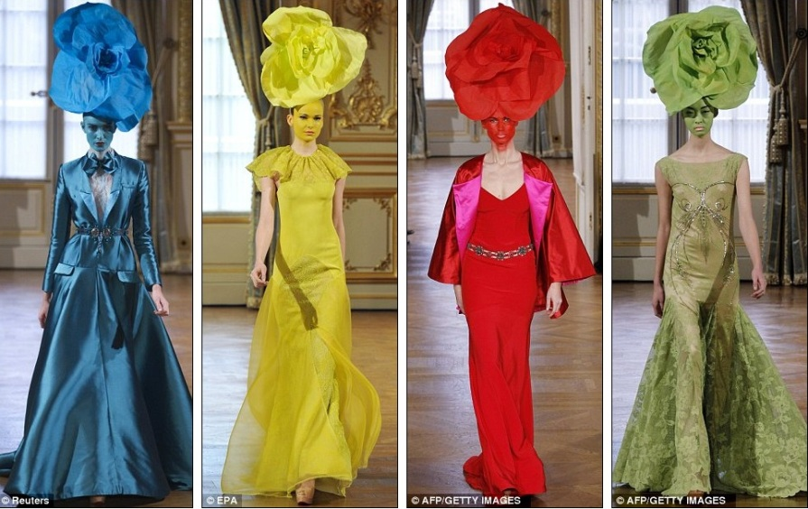 Alixis Mabille - красочные платья с цветочным дополнением