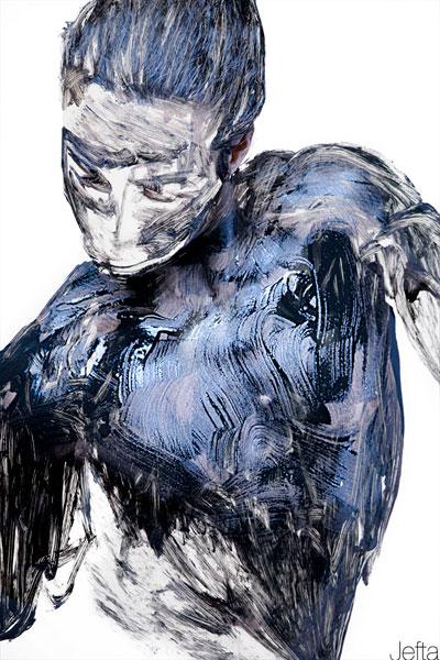 Французский фото-художник Jefta выступает моделью и автором этих произведений