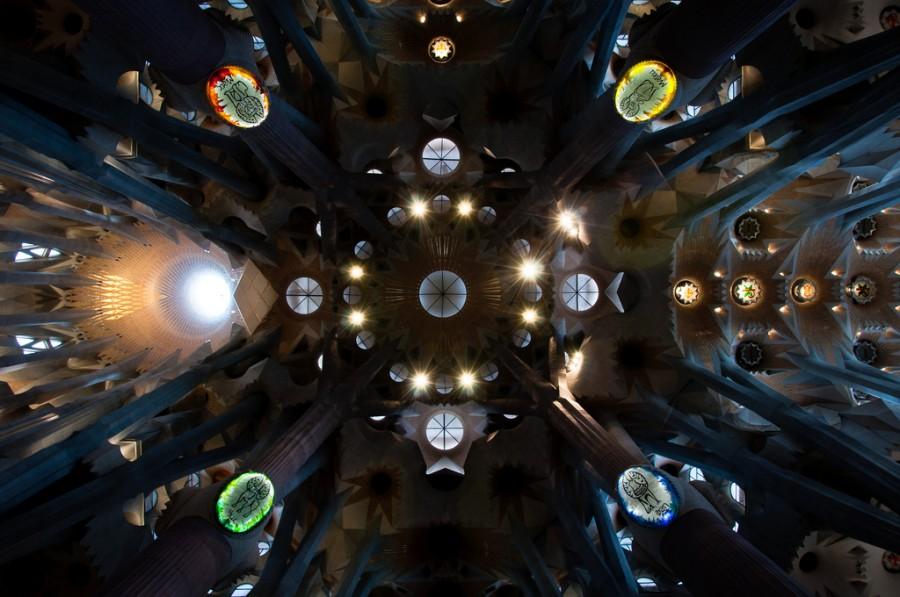 Собор Святого Семейства в Барселоне, архитектор Гауди, фотограф Грег Бейли