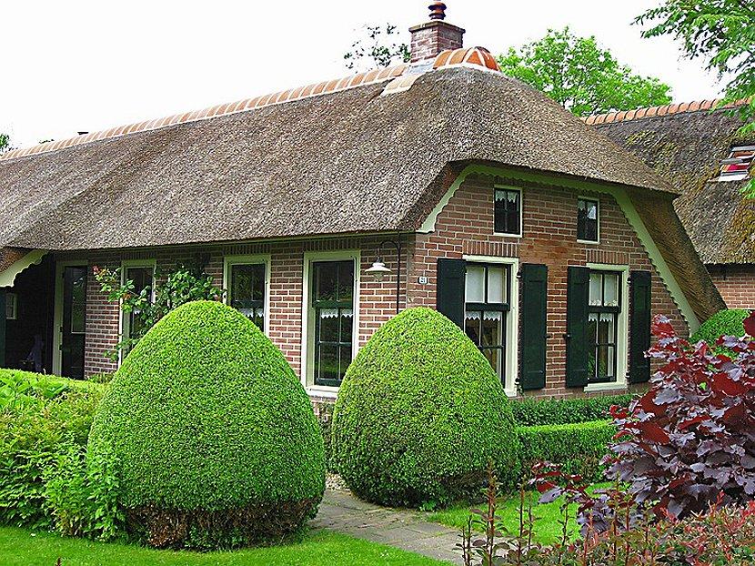 Деревня Гитхорн в Нидерландах