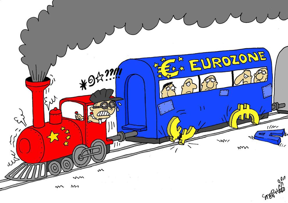 Евро-тормоз для Китая от карикатуриста Стефана Пери