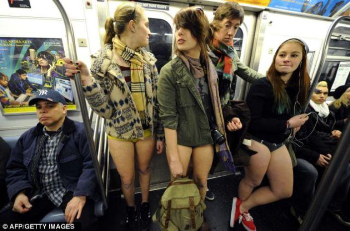 В Нью-Йоркском метро мероприятие проходит с 2001 года