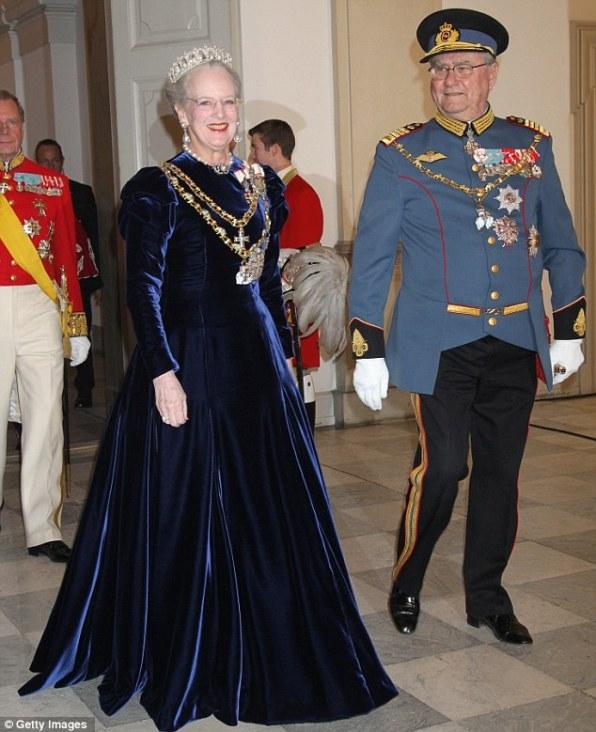 Королева Маргрете II и принц Хенрик