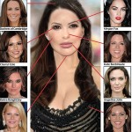 Компьютерная генерация из самых красивых частей лица мировых красавиц: Kate Middleton, Cheryl Cole, Keira Knightley, Gwyneth Paltrow, Megan Fox, Kate Beckinsale, Angelina Jolie, Kelly Brook