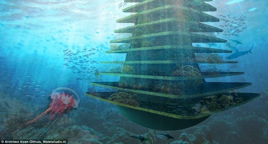 Подводная часть строения