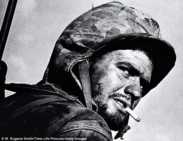 Американский пехотинец во время Второй Мировой войны, фотограф Юджин Смит