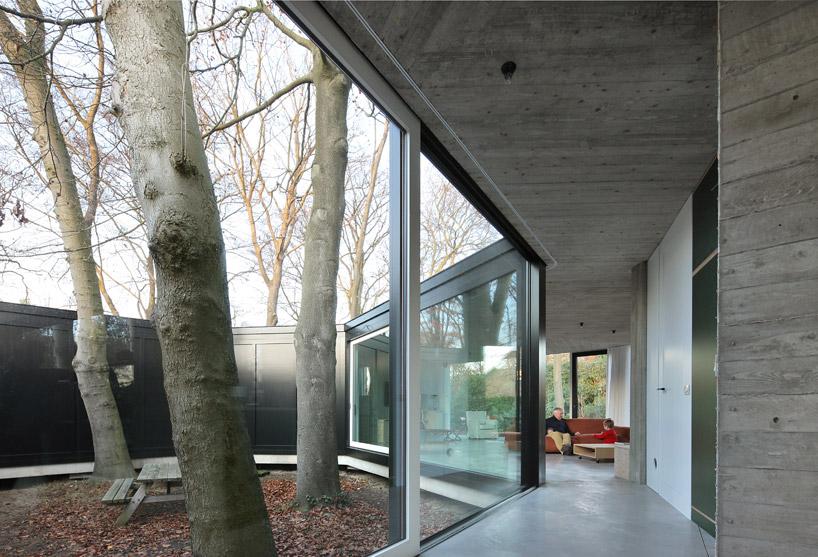 Вид на внутренний двор с прекрасными деревьями
