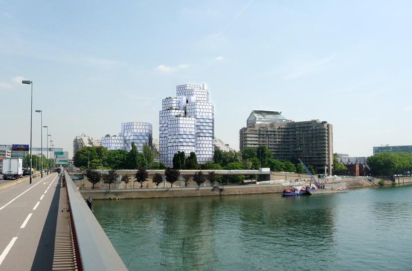 Геометрическая структура Ситилайна во французском Булонь-Бийанкур