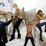 Акция протеста FEMEN в Давосе