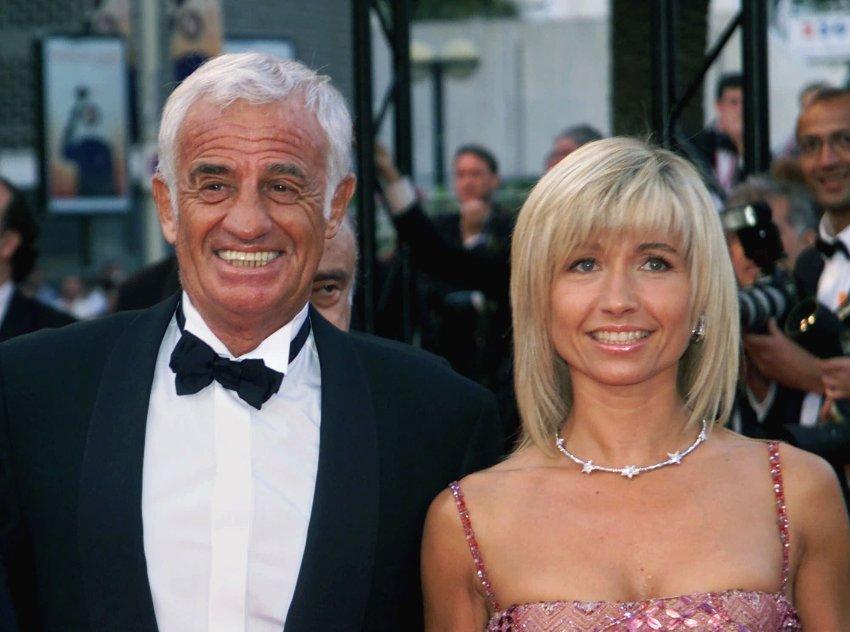 Бельмондо с его бывшей женой Натти в мае 2001 года