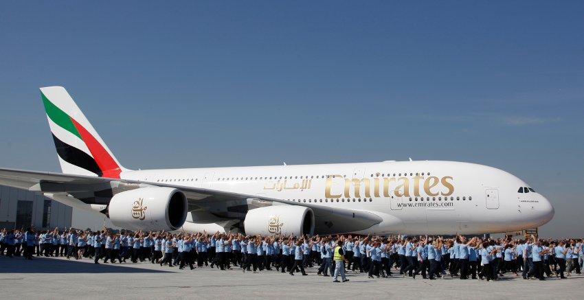 Эмираты закупили А380 в 2008 году
