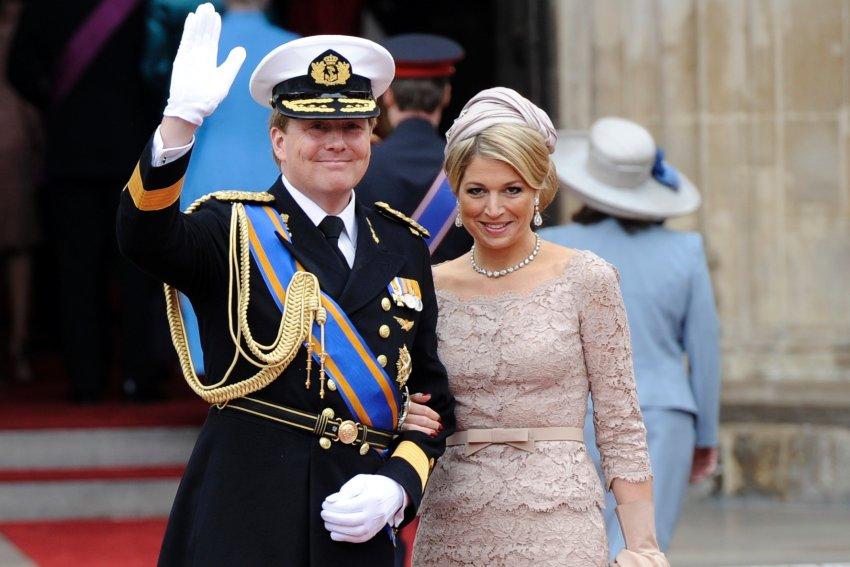 Maxima и ее муж, голландский наследный принц Виллем-Александр на королевской свадьбе в Лондоне в апреле 2011 года