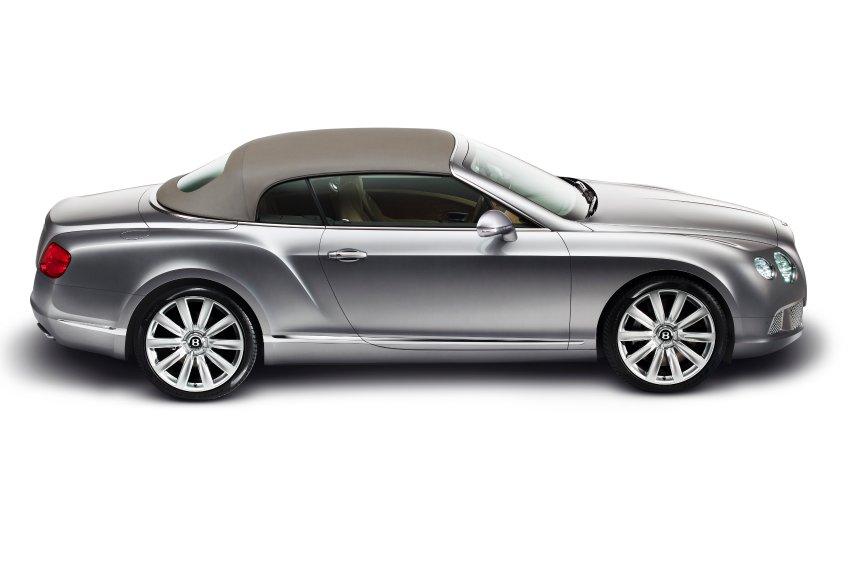 Bentley Continental GTC с поднятой крышей