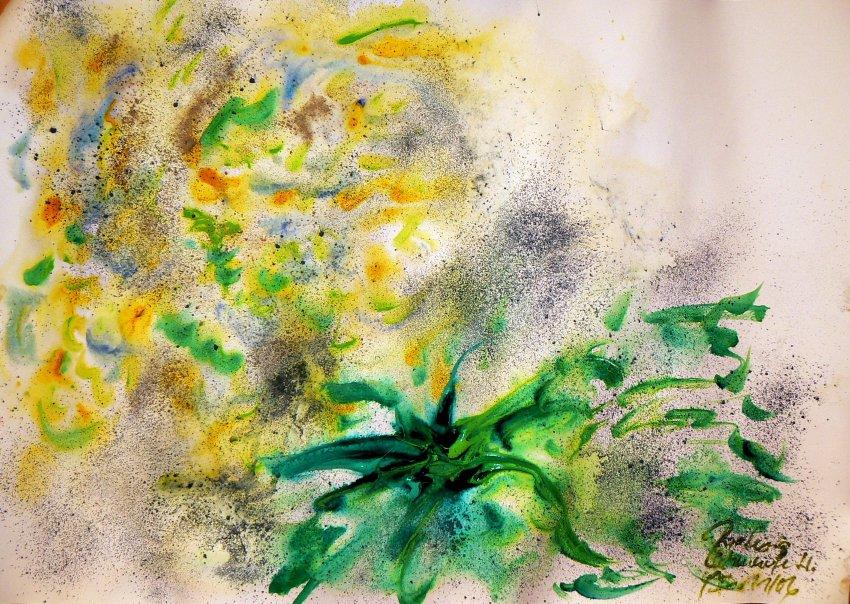 Рислинг из Шлоссберга, спелый аромат со свежестью (желтый с  зеленым), минеральные компоненты (синий), доминирующая кислота  (темно-зеленый)