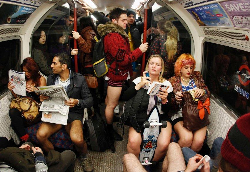 Экстравагантные пассажиры лондонского метро