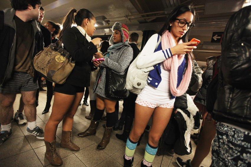 Обычный день в метро Нью-Йорка