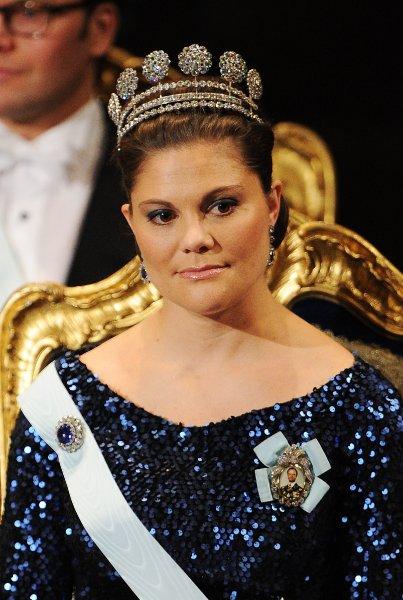 Принцесса Виктория на вручении Нобелевской премии в Стокгольме