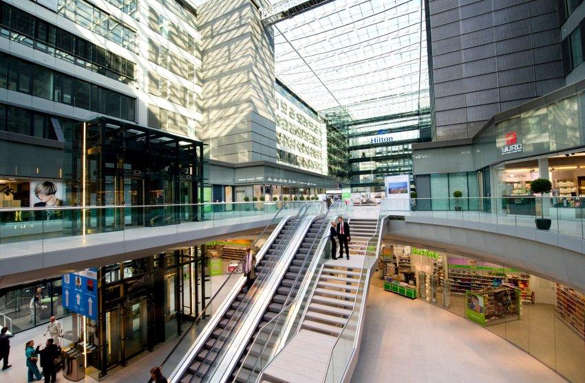 Hilton Squaire является самым мобильным центром из всех отелей сети